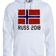 hoodie hvit norge russ 2018