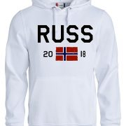 hoodie hvit russ 2018