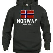 hoodie svart norway since russ 2018