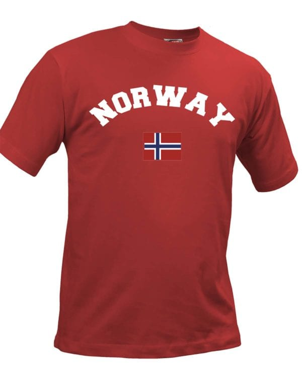 T-shirt norway rød